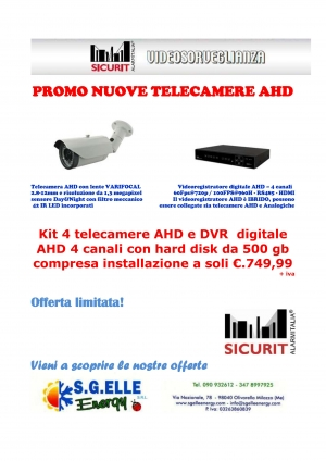 Nuove telecamere AHD